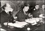 Le 8 mai 1945 , le Troisième Reich capitule sans condition devant les forces alliées et l'URSS. Quel est le nom du représentant français ayant assisté à la signature de l'acte de capitulation à Berlin ?