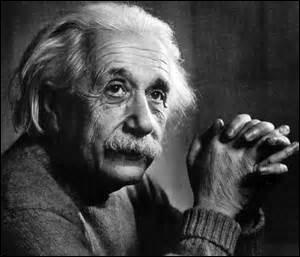 Sur l'image, c'est Albert Einstein.