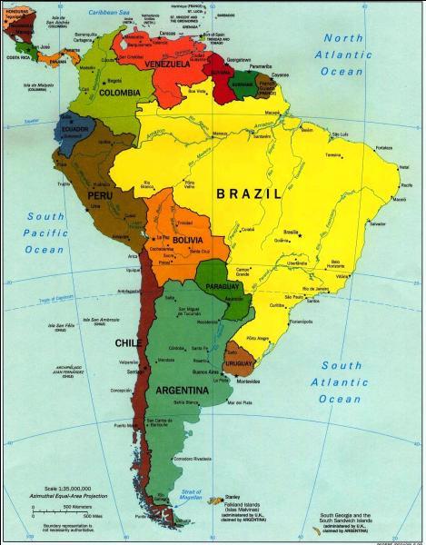 Ces déserts sont en Amérique de Sud.
