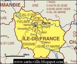 Parmi ces trois villes d'Ile-de-France, laquelle est la plus peuplée ?