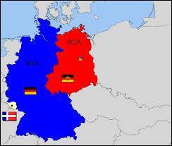 En quelle année l'Allemagne a-t-elle été divisée en 2 , la RDA et la RFA ?