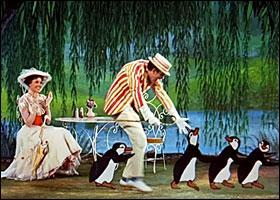 Cette séquence animée avec les pingouins a été voulue par l'auteur elle-même.