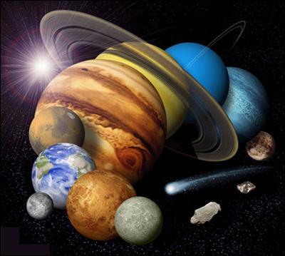 Le système solaire est composé de 9 planètes.