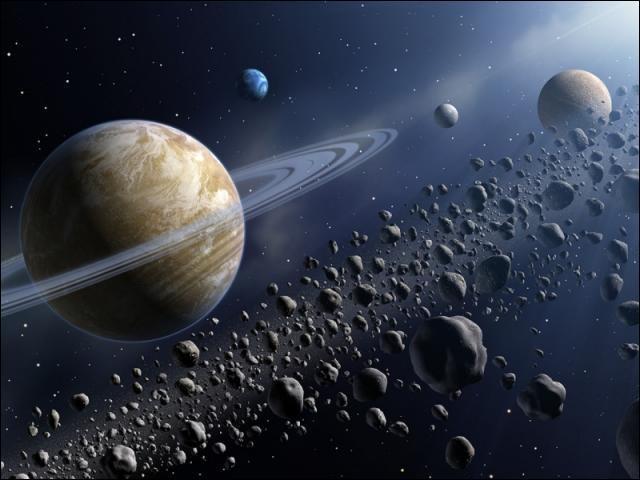 La ceinture d'astéroïdes se situe entre Mars et Jupiter.
