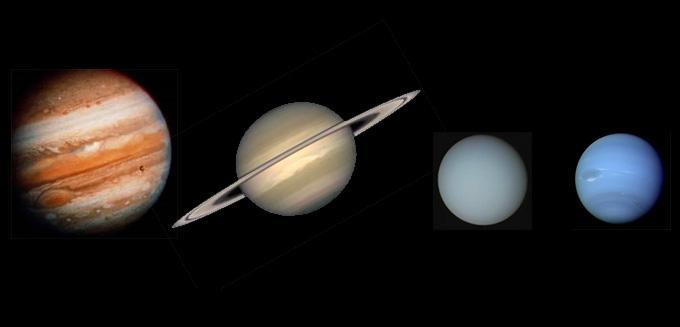Les planètes gazeuses possèdent de l'hydrogène dans leur atmosphère.