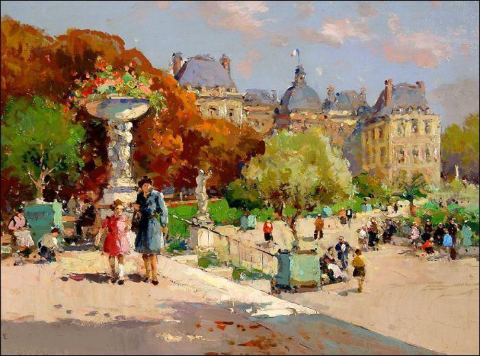 Quizz les tuileries en peinture quiz peintres peintures for Jardin 19eme siecle