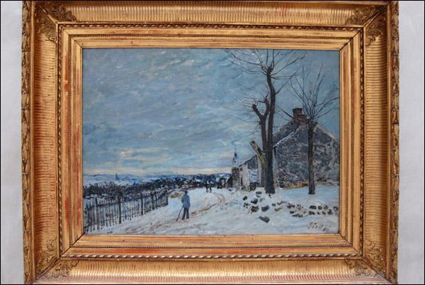 """Qui a peint """"Temps de neige à Veneux-Nadon"""" ?"""