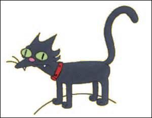 Comment s'appelle le chat de la famille Simpson ?