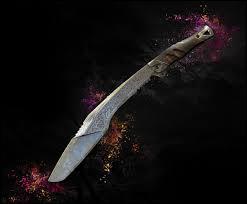 Comment s'appelle le couteau inséré dans le jeu ?