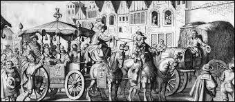 A la suite de quel évènement fortuit, son carrosse se trouve-t-il immobilisé dans une rue étroite ?