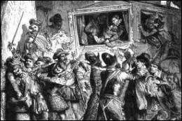 Un homme profite de la confusion et de l'absence de la garde royale pour se précipiter sur le roi. Dans quelle rue de Paris, Henri IV a-t-il été assassiné ?