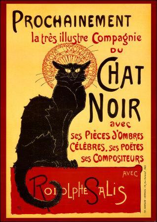 """Célèbre cabaret parisien, où se situait """"Le chat noir"""" ?"""