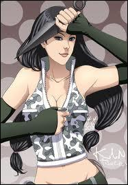 Elle avait participé à l'épreuve de survie et s'était battue avec l'équipe de Naruto :