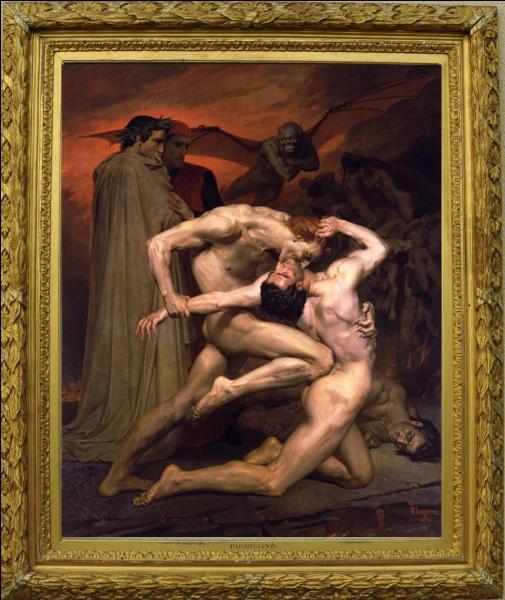 """Représentatif de la peinture académique, ce peintre né à La Rochelle est l'auteur de ce monumental """" Dante et Virgile """" ..."""