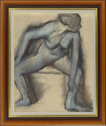 """""""Danseuse en maillot"""" peint vers 1896, est un nu moins connu de cet artiste catalogué parmi les impressionnistes mais aussi grand collectionneur..."""