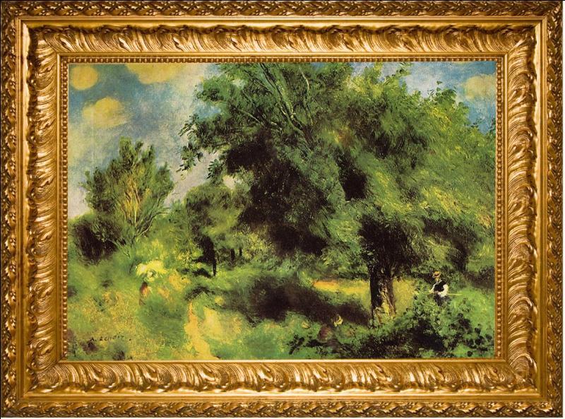 """Appelée également """" Le Poirier d'Angleterre """", """" Un verger à Louveciennes """" acquisition récente du musée, est une oeuvre de quel grand peintre français ?"""
