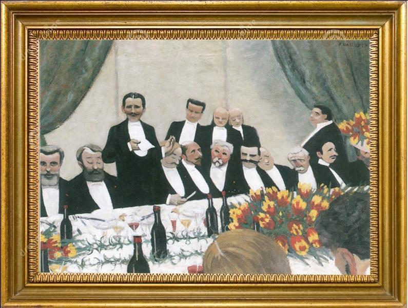 """Appartenant au mouvement nabi, nous devons à ce peintre cette toile intitulée """" Le Toast """" exécutée en 1902..."""
