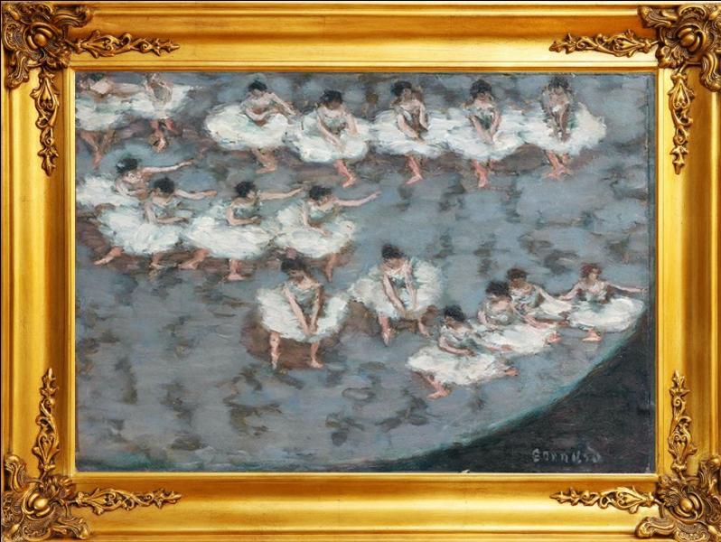 """Belle démonstration de la subtilité de l'esthétique nabie, cette huile intitulée """" Le ballet """" est de quel peintre français ?"""