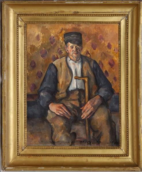"""Acquisition du musée en 2009, ce """"Paysan assis"""" est une peinture de..."""