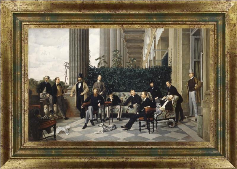 Quel peintre a portraituré ces jeunes hommes, fine fleur du monde impérial de l'époque en 1868 à Paris ?