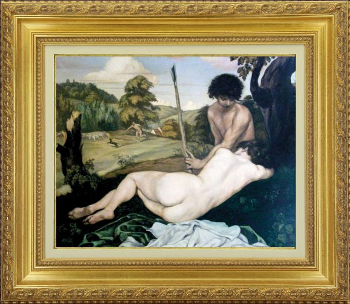 """Ce tableau """"Le repos du berger"""" peint vers 1904, montre un retour au classicisme de ce peintre du courant orientaliste. De quel artiste s'agit-il ?"""