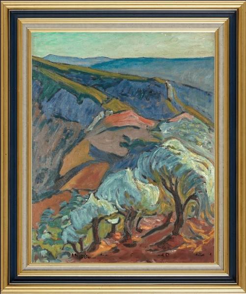 Peintre indépendant, d'une personnalité bien affirmée, il exprime son amour de la Provence dans ses toiles de facture fauviste...