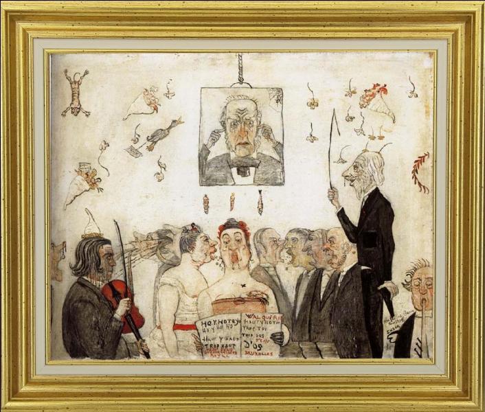 """A quel peintre expressionniste attribue-t-on cette toile avant-gardiste intitulée """"Au conservatoire """" ?"""