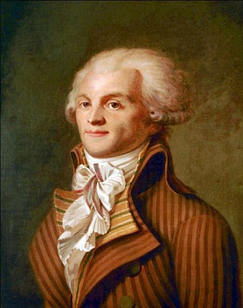 Autre figure emblématique de la Révolution , Robespierre fut également guillotiné !