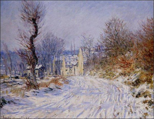 "Qui a peint ""Route de Giverny en hiver"" ?"
