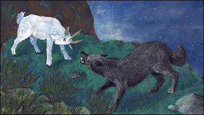 Dans quelle oeuvre littéraire Blanquette se fait-elle manger par le loup ?