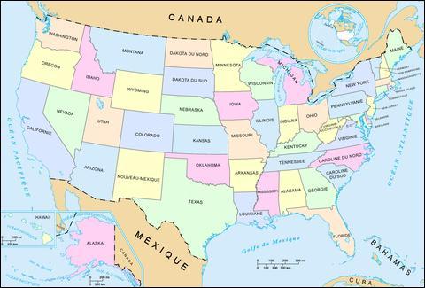 De combien d'états sont composés les Etats-Unis ?