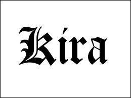 Qui est le deuxième Kira ?
