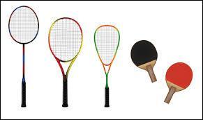 Lequel de ces sports n'utilisent pas de raquettes ?