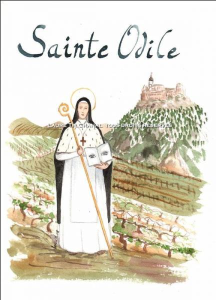 Sa fête est le 14 décembre, et pour ennuyer un peu ceux qui ont le calendrier sur les genoux, savez-vous de quelle région cette sainte est la patronne ?
