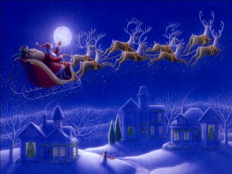 De gants, de lunettes, de ciseaux, c'est mon premier. Mon second se fête le 25 décembre. Dans la tradition, mon tout charge les cadeaux de Noël sur son traîneau tiré par des rennes.