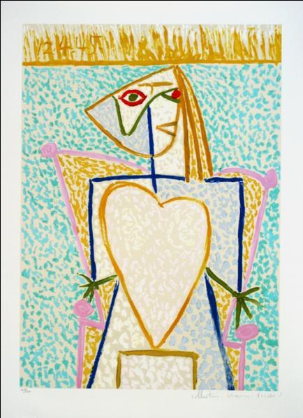 """Qui est l'auteur de l'oeuvre """"Femme au buste en coeur"""" ?"""