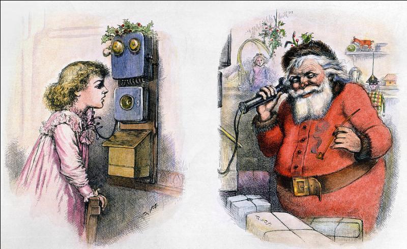 On le sait le Père Noël fut autrefois habillé de vert, qui l'a représenté pour la premièr fois vêtu de rouge ?