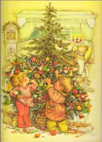 Le premier arbre de Noël date de 1521, où a-t-il été décoré ?