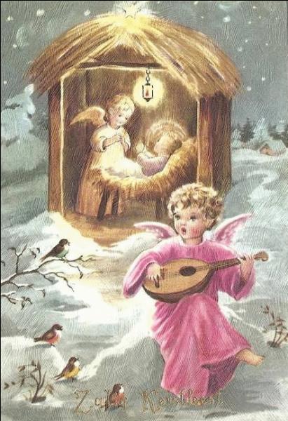 """Dans quel cantique de Noël entend-on """"Mille anges divins, mille séraphins, viennent à l'entour de ce grand dieu d'amour"""" ?"""