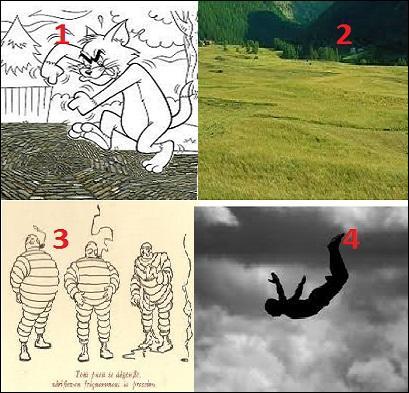 Quelle est l'image correspondant à prêter le flanc ?
