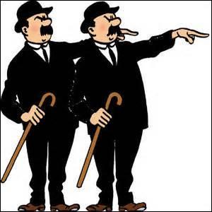 Les deux policiers qui apparaissent dans les aventures de Tintin s'appellent Dupond et Dupond.