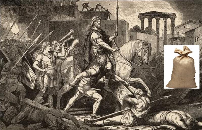 Grâce à l'illustration retrouvez où se produisit l'événement survenu en 410 de notre ère.
