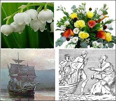 Quel nom portait le navire de marchandises sur lequel embarquèrent les Pères Pèlerins en 1620 ?
