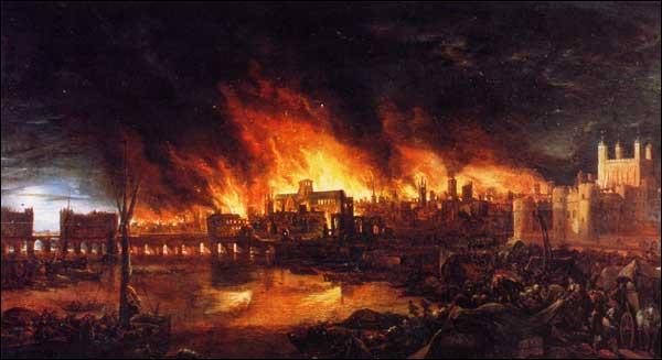 Quelle grande cité fut détruite en 1666 de notre ère par un incendie ayant duré 4 jours ?