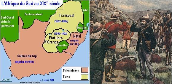 De qui les Boers, vaincus en 1902, étaient-ils les descendants ?