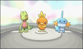Comment s'appelle le Pokémon à gauche de Poussifeu ?