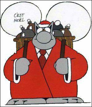 Que nous dit le chat de Geluck, un peu grognon, le jour de Noël ?