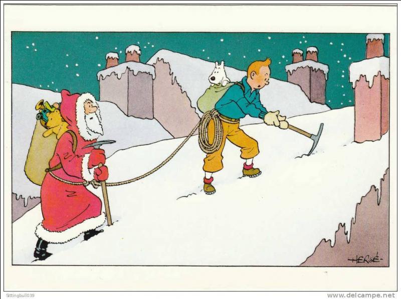Qui suit Tintin, dans ce déguisement de Père Noël ?