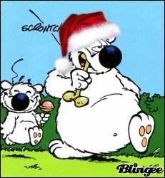 Quel chien a mis le bonnet du Père Noël ?