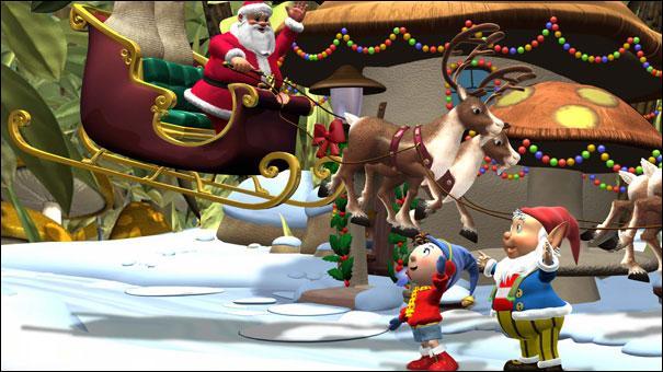 Qui attend le Père Noël avec Oui-Oui ?